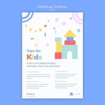 Verticale poster voor online winkelen voor kinderspeelgoed