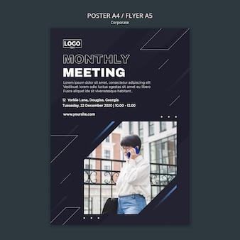 Verticale poster voor professionele bedrijven