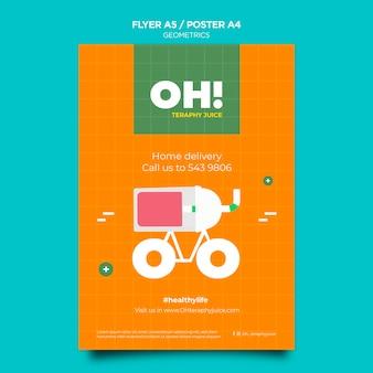 Verticale poster voor recepten met fruitsmoothies