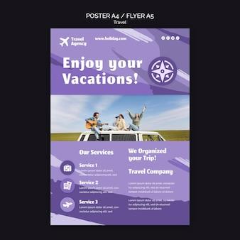 Verticale poster voor reisbureau