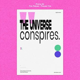 Verticale poster voor typefrases