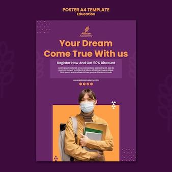 Verticale poster voor universitair onderwijs