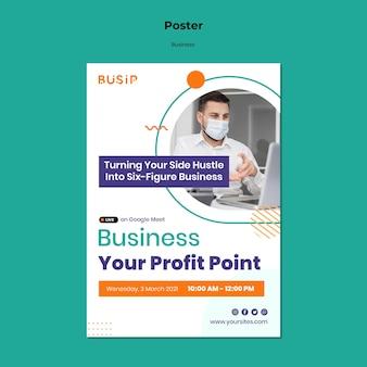 Verticale poster voor webinar en het opstarten van een bedrijf