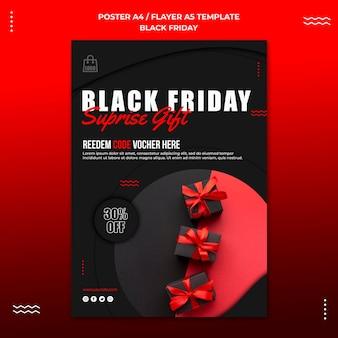 Verticale poster voor zwarte vrijdagverkoop