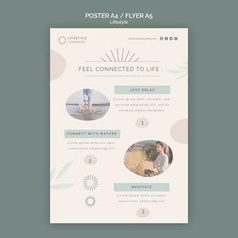 Verticale postersjabloon voor een bedrijf met een gezonde levensstijl