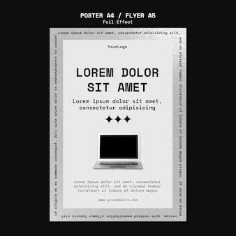 Verticale postersjabloon voor technologie met folie-effect