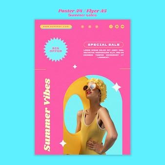Verticale postersjabloon voor zomeruitverkoop