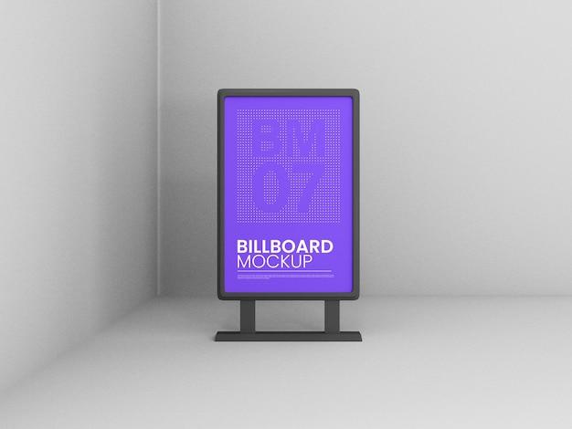 Verticale stand billboard mockup