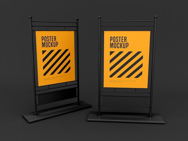 Verticale stand poster mockup