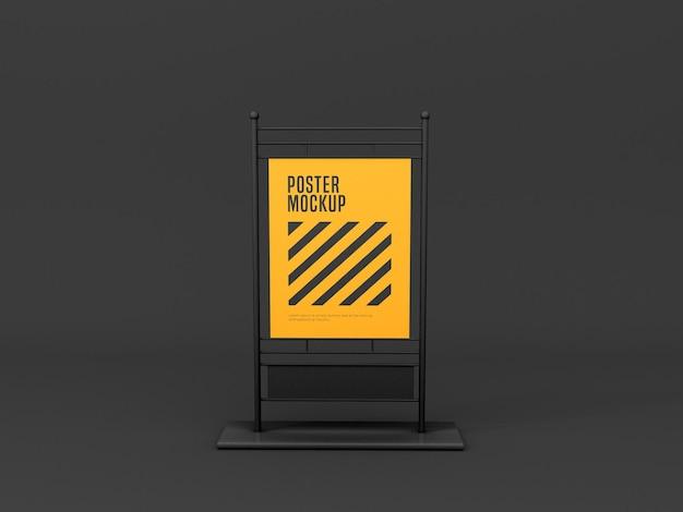 Verticale standaard banner mockup
