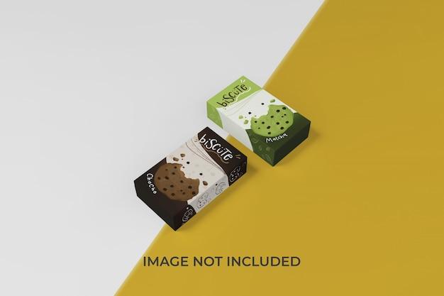 Verwisselbare doos verpakking mockup ontwerpsjabloon