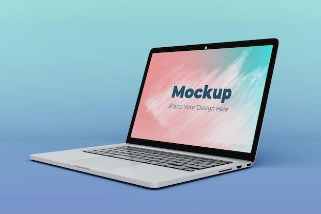 Verwisselbare laptop scherm mockup ontwerpsjabloon
