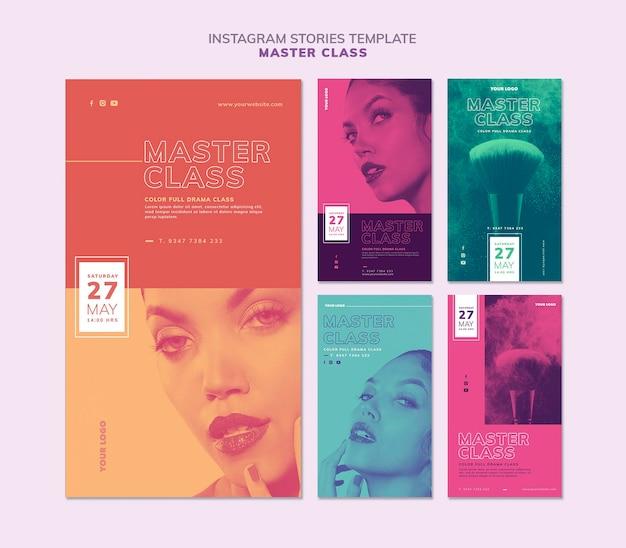 Verzameling instagram-verhalen voor masterclass