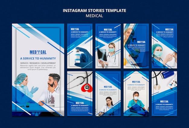 Verzameling instagram-verhalen voor vaccinatie tegen het coronavirus