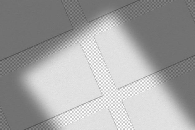 Verzameling van geïsoleerde witte visitekaartjes Gratis Psd