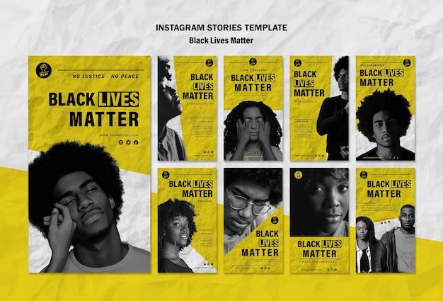 Verzameling van instagram-verhalen voor zwarte levenszaken