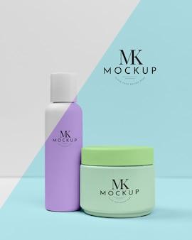 Verzameling van schoonheidscrèmes mock-up