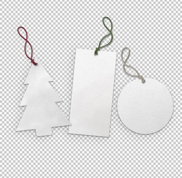 Verzameling witte etiketten voor kerstmis