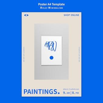 Vet-minimalisme postersjabloon