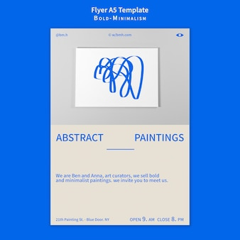 Vet-minimalistische flyersjabloon