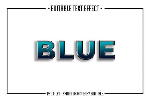 Vet modern blauw tekststijl lettertype effect