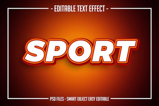 Vet modern oranje sport tekststijl bewerkbaar lettertype effect