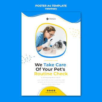 Veterinaire kliniek folder sjabloon