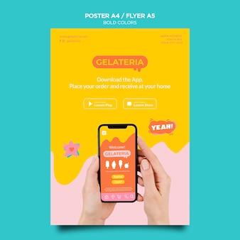 Vetgedrukte kleuren concept folder sjabloon