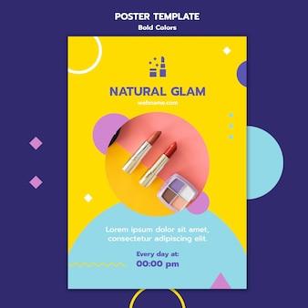 Vetgedrukte kleuren concept poster sjabloon