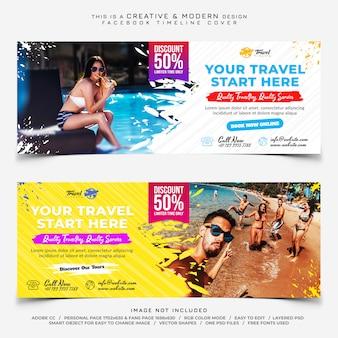 Viaggi banner di copertina di facebook