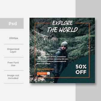 Viajes, redes sociales, diseño de anuncios publicitarios