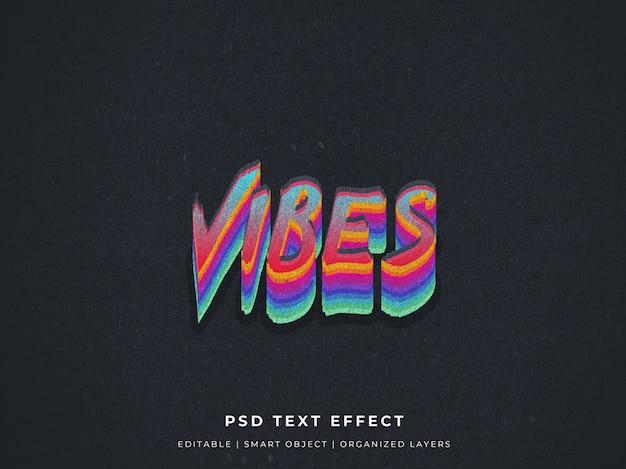 Vibes glitch 3d teksteffect