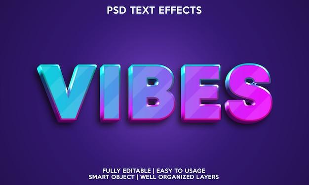 Vibes teksteffect