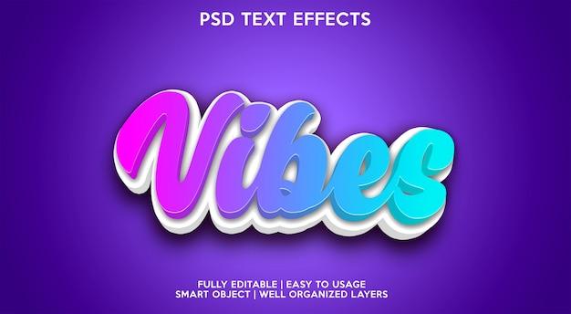 Vibraciones azules texto efecto moderno
