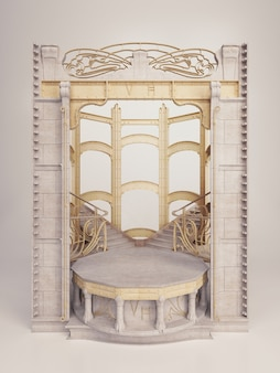 Victor horta - plantilla de marco en capas