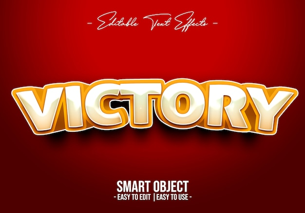 Victory text style effect