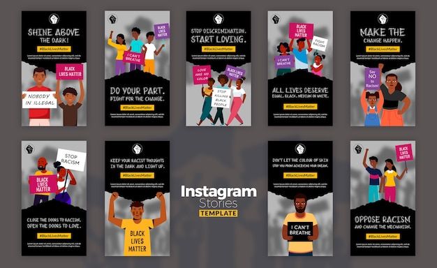 Las vidas negras importan historias de instagram