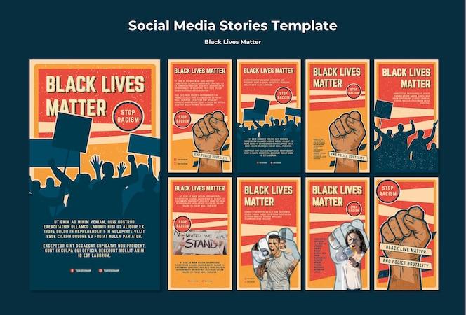 Las vidas negras no importan historias de instagram de racismo