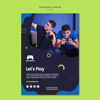 Video game flyer sjabloon