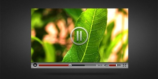 Video-speler-interface psd