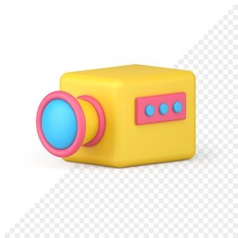Videocamera 3d-pictogram