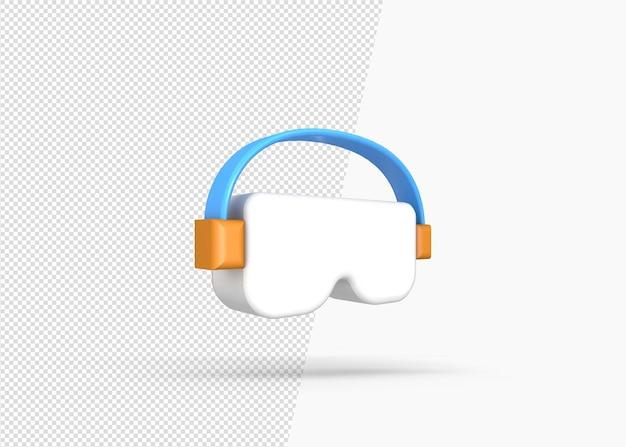 Vidrio de protección ocular aislado icono 3d