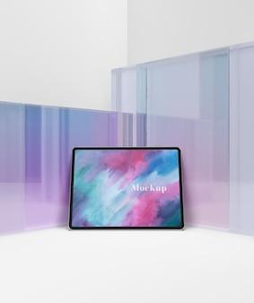 Vidrio transparente con tableta