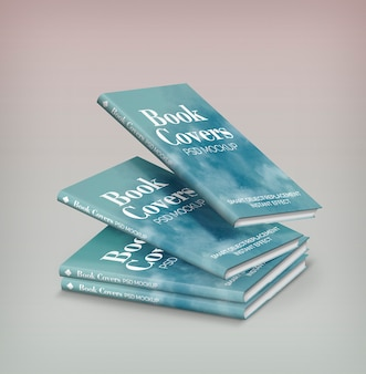 Vier boeken mockup