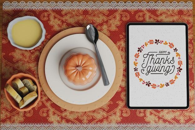 Viering van thanksgiving day mock-up