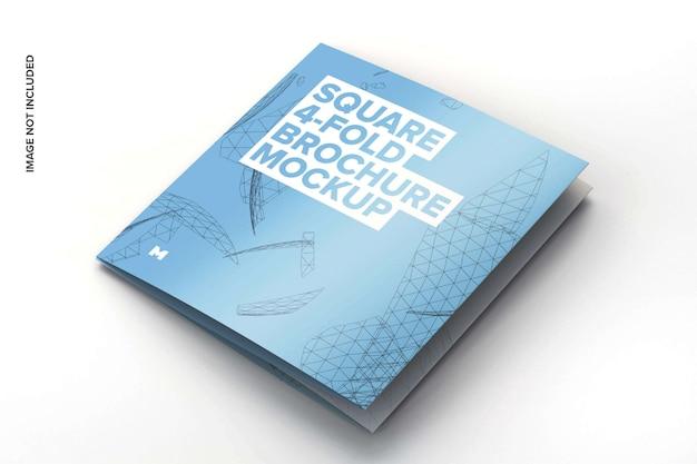 Vierkant 4-voudig brochure mockup