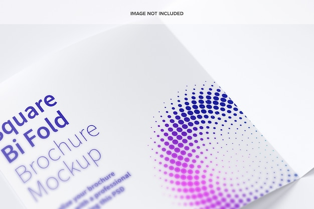 Vierkant bi-fold brochure mockup