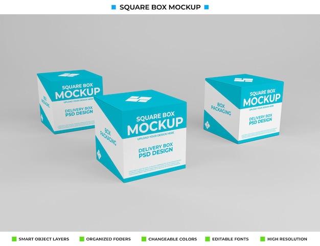 Vierkant doosmodel voor productverpakking