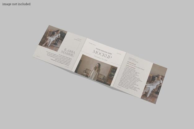 Vierkant driebladig brochuremodel