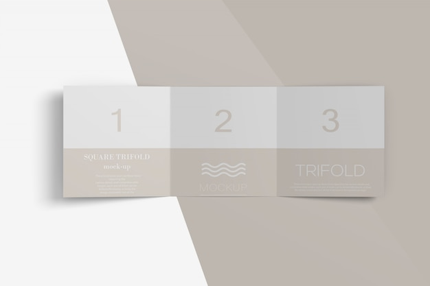 Vierkant drieluik brochure mockup